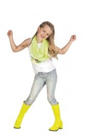 Neon gele kinderlaars