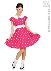 Jaren 50 jurkje pink / wit