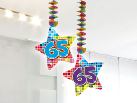 Hangdecoratie 65 jaar blocks