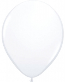 Mini ballonnen 13 cm  wit