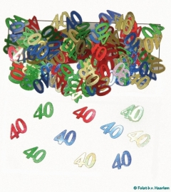 Tafeldecoratie/sier-confetti 40