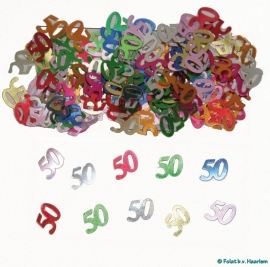 Tafeldecoratie/sier-confetti 50