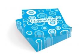 Communie servetten blauw papier