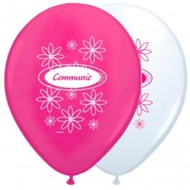 Ballonnen roze communie 8 stuks