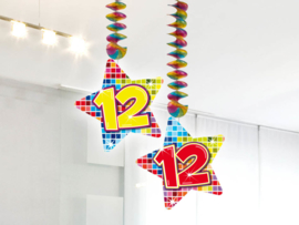 Hangdecoratie 12 jaar blocks