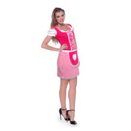 Dirndl jurkje klassiek pink