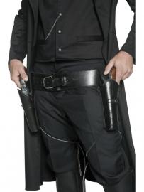 Lederlook holster zwart