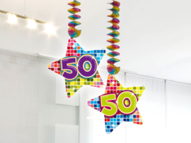 Hangdecoratie 50 jaar blocks