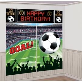 Voetbal wanddecoratie