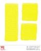 Zweetbandjes geel neon