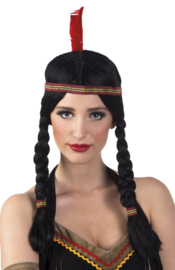 Pruik indianen dame Annea