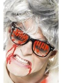 Griezel bril met bloed