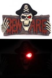 Beware deurbord met licht