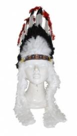 Indianentooi zwart, rood en wit