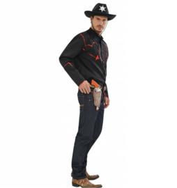 Zwart cowboyshirt Toppers