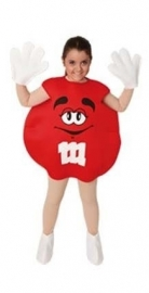 M & M kostuum kinderen rood