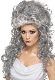 Halloween Pruik grey