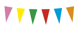 Vlaggenlijn papier multicolor
