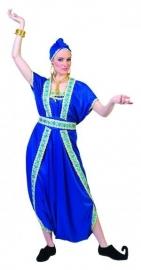 Blauwe Haremdame jurk