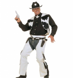 Zwart cowboy kostuum
