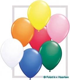 Kwaliteitsballon standaard - assorti kleuren - 10 stuks