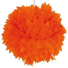 Oranje pom pom 30 cm
