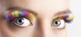 Wimpers regenboog kleuren