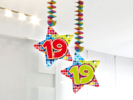 Hangdecoratie 19 jaar blocks