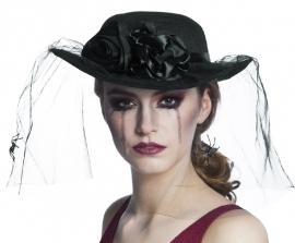 Widow hoed spider black