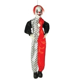 Decoratie scary clown 90cm