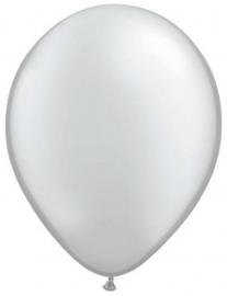 Mini ballonnen 13 cm zilver