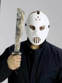 Hockey masker met zwaard
