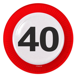 Verkeersbord bordjes 40 jaar