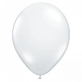 Confetti ballonnen 25 jarig trouwen 10 stuks