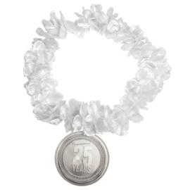 Hawaiikrans 25 jaar zilver