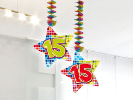 Hangdecoratie 15 jaar blocks