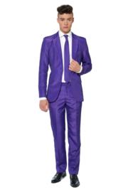 Solid purple suitmeister kostuum