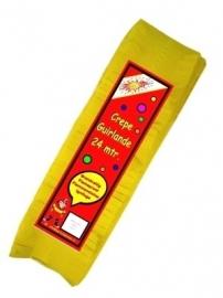 Crepe guirlande - slingers -- geel