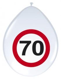 Ballonnen 70 jaar verkeersbord