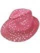 Kojak hoed metallic + stip pink