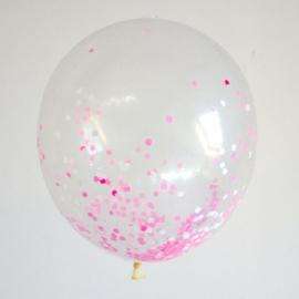 Confetti ballonnen roze 10 stuks