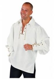 Creme zorro overhemd