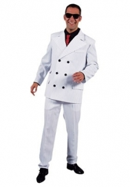 Kostuum Maffia wit