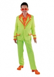 Kids Disco kostuum fluor groen