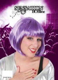 Disco Bobline pruik paars