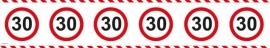 Markeerlint 30 jaar verkeersbord