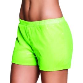 Hotpants sequins neon groen