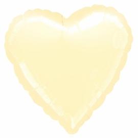 Folieballon hart ivoor excl. helium