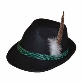 Oktoberfest hoed luxe zwart