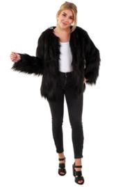 Bontjas lang haar zwart